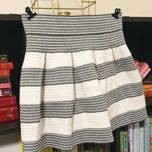 Short pleated black & white skirt. Worn once.